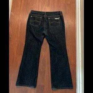 Michael Kors 12 petite bootcut jeans dark wash